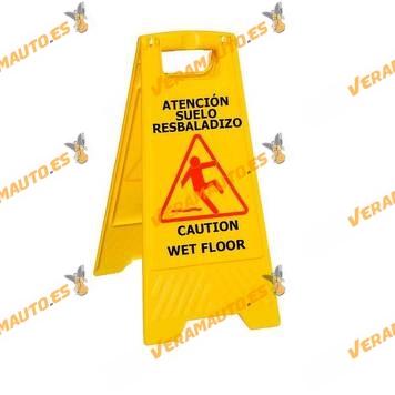 Danger Signs | Slippery Floor Poster | Wet | Plastic | Folding
