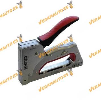 Grapadora Manual de Tapicero 3 en 1 para Grapas y Puntas | MAURER PLUS | Estructura de Metal 3 en 1 | Agarre Acolchada