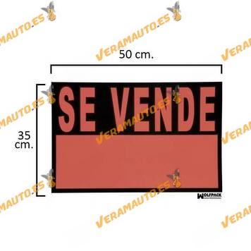 Placa   Cartel   Señalización   Se Vende   Plástico   Uso Interior o Exterior   Pared