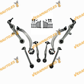 Suspension Arm Kit for Audi A4 from 2000 to 2004 | SEAT Exeo from 2008 to 2013 | Arms and Screws | Right and left