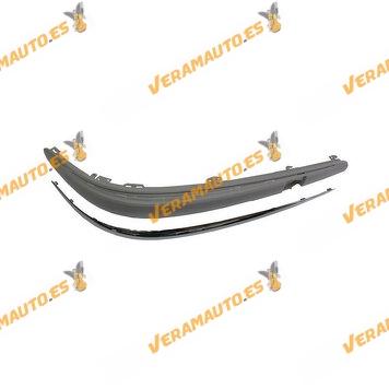 Moldura Paragolpes Mercedes Clase E W211 Del 2002 Al 2007 Con Perfil Cromado Sin Huecos Sensor Delantera Derecha 2118800612