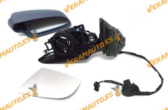 Espejo Audi A3 (8P) de 2003 a 2008 izquierdo eléctrico térmico imprimado modelos 5 puertas 8E0857508B 8E0857535E