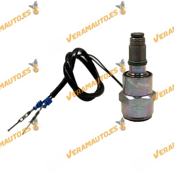 Electrovalvula | Corte Inyección Combustible Renault  Clio II Kangoo Trafic 1.9D | Bomba Inyectora Delphi y Lucas | 9108-147C