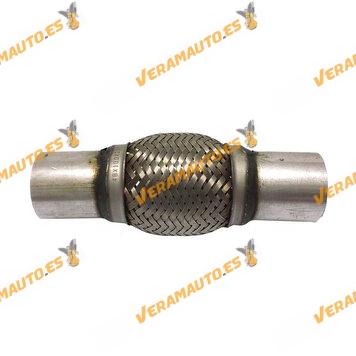 Tubo de Malla Flexible de 48 mm de Interior y 10 cm de Largo con Extensión de Acero Inoxidable Reforzado de Alta Calidad
