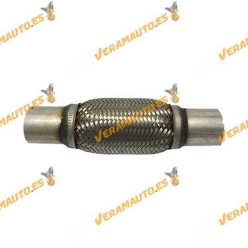 Tubo de Malla Flexible de 48 mm de Interior y 15 cm de Largo con Extensión de Acero Inoxidable Reforzado de Alta Calidad