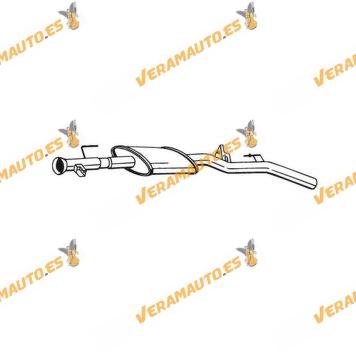 Silencioso Intermedio Renault Clio 1.4i 16v, 1.4i Sport Way II 16v, 1.6i 16v De 1998 a 2005 Similar a 7700421018, 8200043358