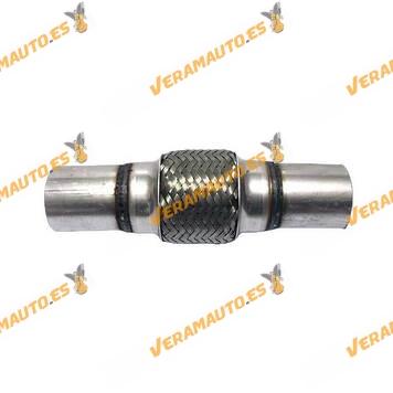 Tubo de Malla Flexible de 45 mm Interior y 10 cm de Largo malla con Extensión Acero Inxodable Reforzado de Alta Calidad