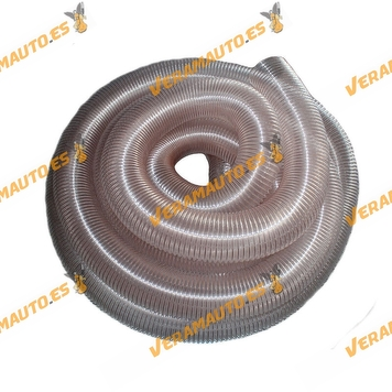 Tubería   Manguera Flexible de Aspiración o Succión de 0.6 mm de Grosor con Acero Cobreado