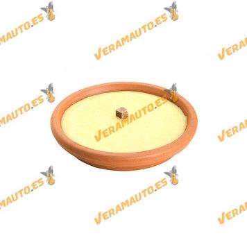 Vela Antimosquitos Citronela Recipiente Terracota 16 cm   190 Gramos