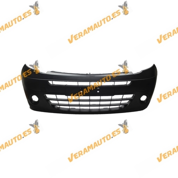 Front Bumper Renault Kangoo W 2008 to 2013 | Black | Hole for Fog Lamp | With Moldings | OEM Similar to 7701478129