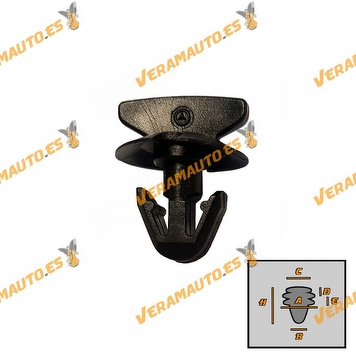 Set of 5 Fender Staples   Wheel Arch   Engine Compartments   Mercedes   OEM Similar to A0029880542