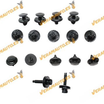 Toyota Auris Under Engine Protection Screw Kit Toyota Auris   Corolla from 2007 to 2012   Kit of 16 Parts