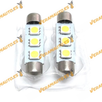 Lámpara Led Canbus Plafonier-festoon 42mm Luz Blanca