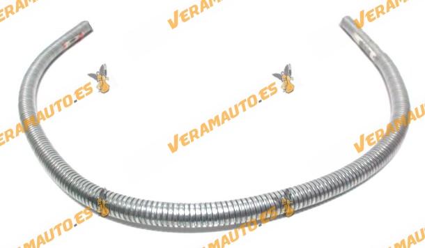 Unión flexible de escape ó flexo de 32 mm de diámetro interior y 2 metros de largo de acero galvanizado de alta calidad