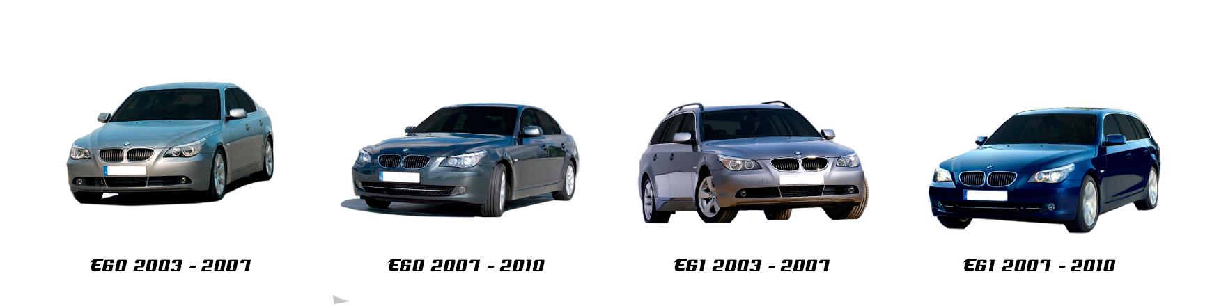 Recambios de BMW Serie 5 E60, E61. 520i, 525i, 530d, 535d, 520d, 525d