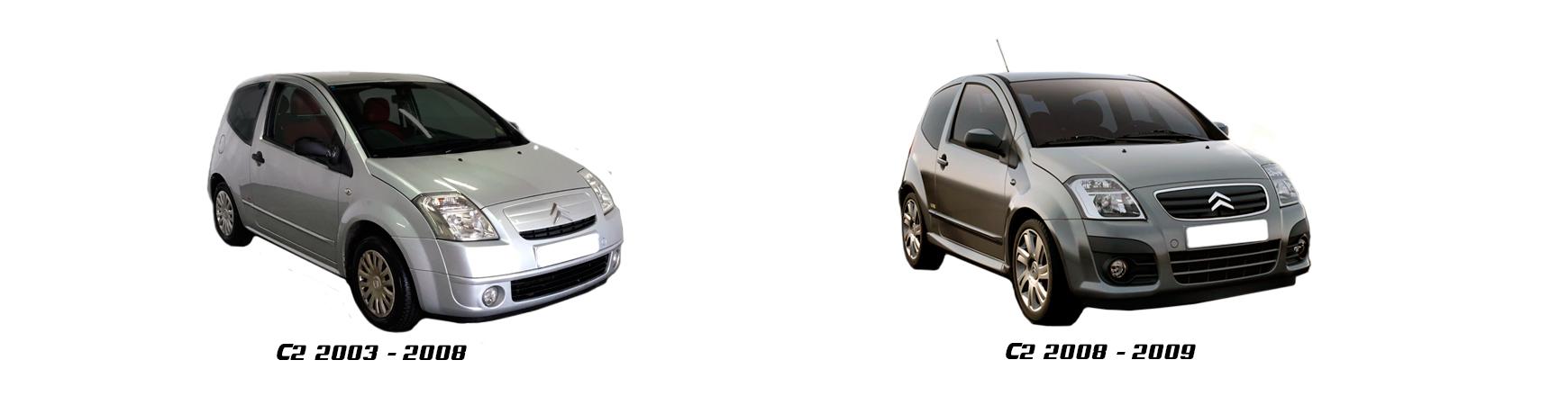 Recambios de Citroën C2 de 2003, 2004, 2005, 2006 y 2007.
