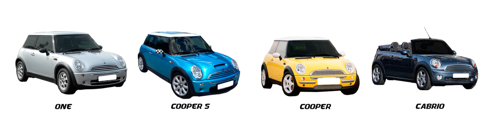Recambios para Mini One R50, Cooper, S R53  de 2004, 2005 y 2006.