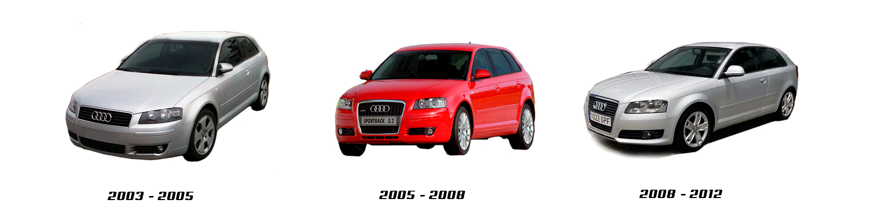Audi A3 de 2003 a 2008. Repuestos nuevos. Piloto, faro, espejo...