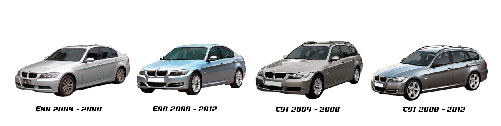 BMW Serie 3 E90 de 2005 a 2009. Recambios económicos para coche.