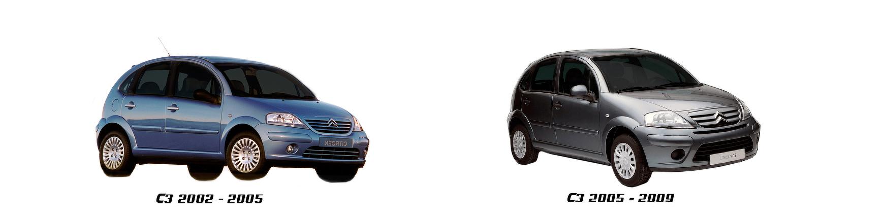 Recambios de CITROEN C3 modelos de 2005, 2006, 2007, 2008 y 2009